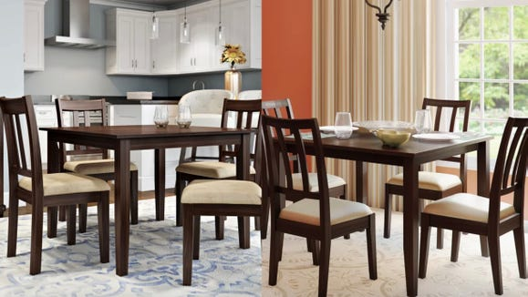 This small dining set would fit perfectly in   small apartment.