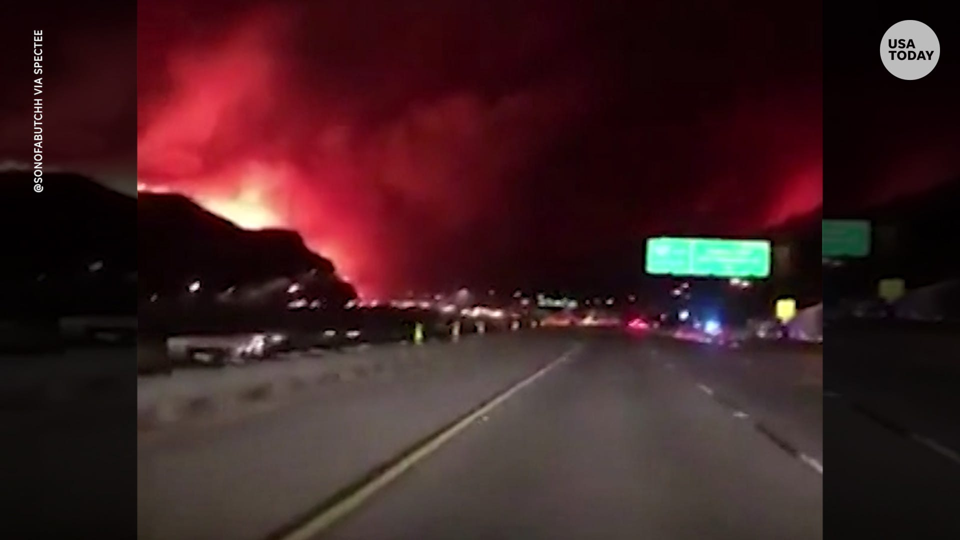 la saddleridge wildfire spreads, shuts down interstate