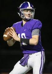 Rumson-Fair Haven quarterback Colin Coles looks for a receiver.