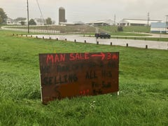 'Man Sale': Her boyfriend left, so Nashville woman held a yard sale — with his things.