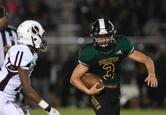 Rockport-Fulton running back Garrett Loudermilk rushed for more than 200 yards in its win against Sinton to open district play.