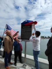 Corpus Christi city officials and local activists teamed up to unveil a new Texas historical marker dedicated to the 1966 Melon March on Saturday, Oct. 12, 2019.