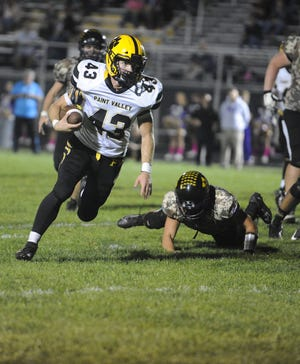 Paint Valley running back Brayden Ison runs the ball during a 41-7 win over Unioto on Friday, Oct. 11, 2019 at Unioto High School in Chillicothe, Ohio.