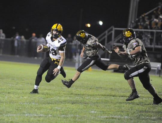 Paint Valley's Brayden Ison runs the ball during a 41-7 win over Unioto on Friday, Oct. 11, 2019 at Unioto High School in Chillicothe, Ohio.