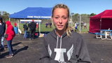 Zane Trace's Hannah Kerr discusses finishing first at the SVC Championship meet on Saturday.