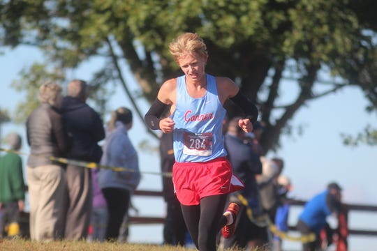 Conner senior Will Hanak in the Northern Kentucky Athletic Conference boys cross country meet, October 12, 2019, Idlewild Park, Burlington KY.