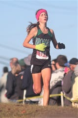 Brossart freshman Amy Klocke won the small-school race and finished third overall