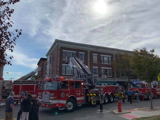 First responders at the scene of a fire on State Street in Perth Amboy on Saturday, Oct. 12.