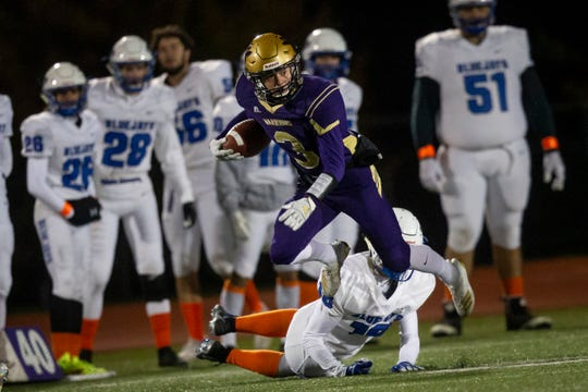 Norwalk's Scott Anderson (3) rushes during their football game on Friday, Oct. 11, 2019 in Norwalk. Norwalk takes a 24-3 lead into halftime.
