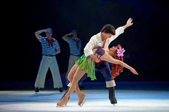 "Ariel of ""The Little Mermaid"" longs to experience life beyond in the water in ""Disney on Ice Presents Dream Big."""