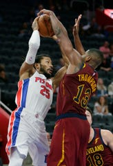 Detroit Pistons guard Derrick Rose