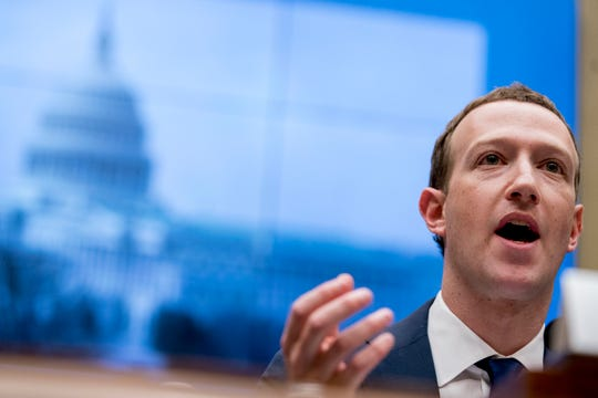 Facebook CEO Mark Zuckerberg testifies before a House Energy and Commerce hearing on Capitol Hill in Washington on April 11, 2018.