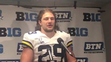 Michigan linebacker Jordan Glasgow describes his fumble recovery in the fourth quarter