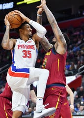 Pistons' Christian Wood is likely to vie with Joe Johnson for the final spot on the Pistons' 2019-20 roster.
