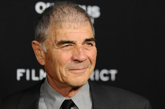 """Robert Forster arrives at the LA premiere of """"Olympus Has Fallen"""" at the ArcLight Theatre in Los Angeles on March 18, 2013"""