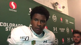 Star receiver says when he's feeling good, his teammates feel good after win at New Mexico