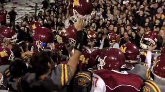 Video Highlights of scoring plays and postgame celebration from Rocky Mountain's 17-14 win over Fossil Ridge on Friday night.