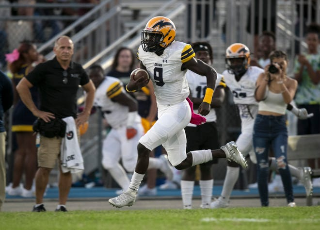Lehigh rising junior running back Richard Young, shown here against Riverdale in 2019, is one of the top recruits in the nation in the class of 2023.