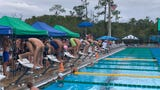 The Cape Coral boys and Estero girls teams took home first place honors on Saturday at the FGCU Aquatics Center.
