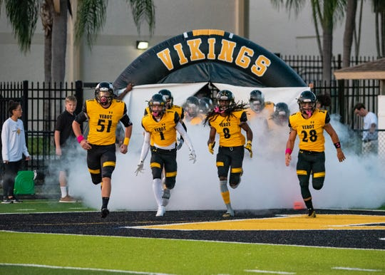 Bishop Verot dropped its first game of the season to Delray Beach American Heritage 17-14 on Friday night.