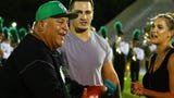 North Fort Myers graduate and free agent NFL fullback Tommy Bohanon presented Sirianni 2 tickets to Super Bowl LIV in Miami at halftime.