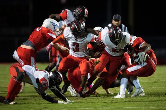 Hillcrest plays at Riverside Friday, Oct. 11, 2019.