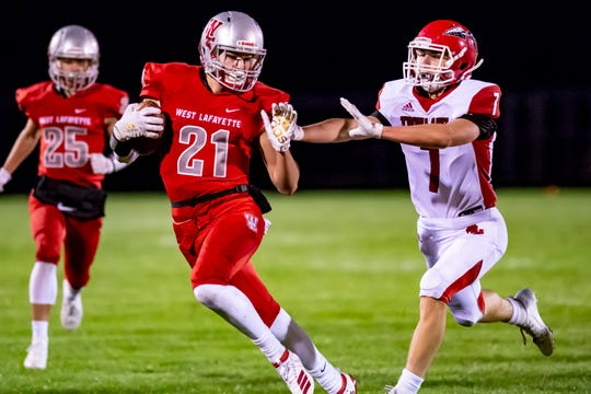 Harrison Truitt tied West Lafayette records for touchdowns in a season and career Friday night.