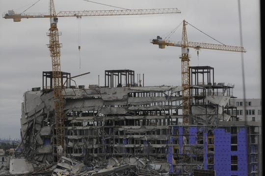 A planned Hard Rock Hotel undergoing construction in New Orleans collapsed Saturday, Oct. 12, 2019.