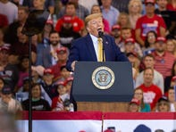 Donald Trump speaking at rally in Lake Charles, LA.  Friday, Oct. 11, 2019.