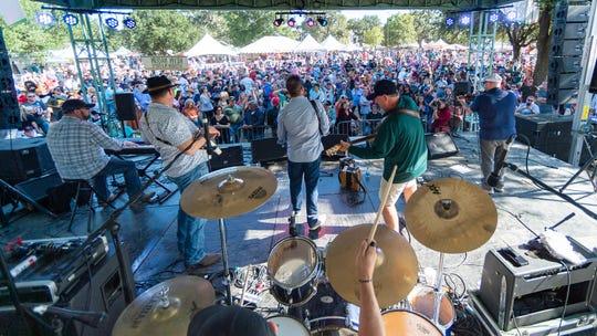 Kevin Naquin & The Ossun Playboys perform at Festivals Acadiens et Créoles  Saturday. Oct. 12, 2019.
