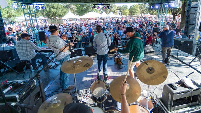 Kevin Naquin & The Ossun Playboys perform at Festivals Acadiens et Créoles  Saturday. Oct. 12, 2019.
