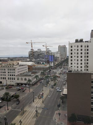 The Hard Rock hotel construction in downtown New Orleans collapsed on Saturday, Oct. 12, 2019.