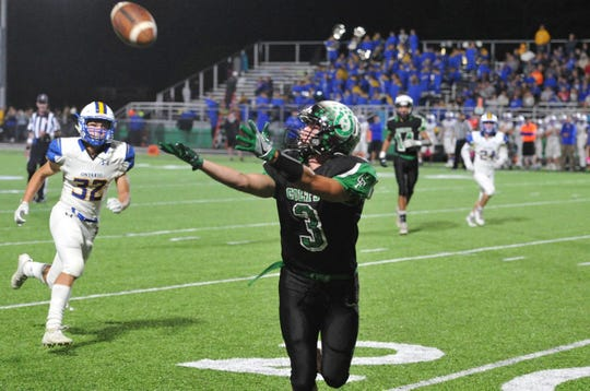 Clear Fork's Gabe Blauser reels in a pass during the Colts' win over Ontario last week.