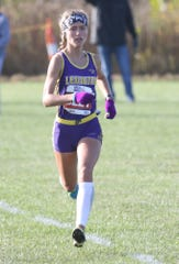Lexington junior Halle Hamilton was the individual OCC champion with a blazing time of 18:43.15 during the 2019 Ohio Cardinal Conference cross country championships on Saturday morning.