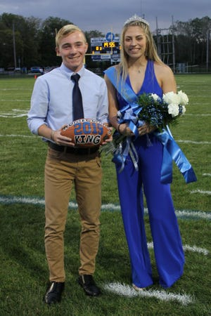 John Holzaepfel and Annie Tibbels were crowned Danbury's Homecoming King and Queen Friday night.