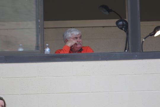 Jack Soliday, The Voice of the Tygers, was inducted into The Castle Wall fraternity during homecoming last week, but Mansfield Senior had one more surprise for him naming the pressbox at Arlin Field in his honor.