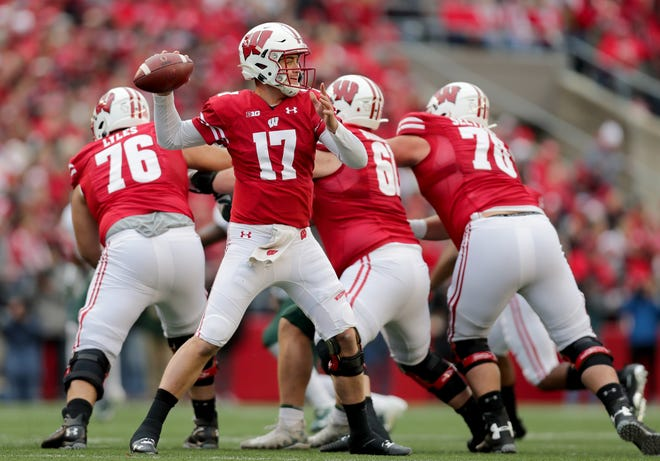 Junior quarterback Jack Coan has completed 35 of 43 third-down attempts (81.4%) for 390 yards, with 26 first-down conversions, for UW this season.