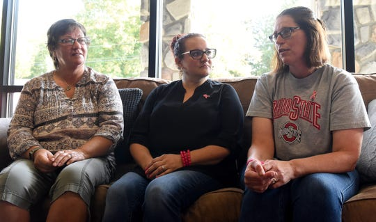 Breast cancer survivors Christine Reaser, Danielle Grady and Pam Boesch talk about their experiences with the breast cancer support group in Licking County, Kindred Spirits. Grady started the group which enables women to share their personal experiences with the disease, while offering emotional comfort and moral support.