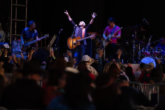 Frank Ray performs at the 7th Annual Las Cruces Country Music Festival, which kicked off on Friday, October 11, 2019. The three-day event features two stages, seven headliners, and seven of the best in regional and local bands to entertain the crowd.