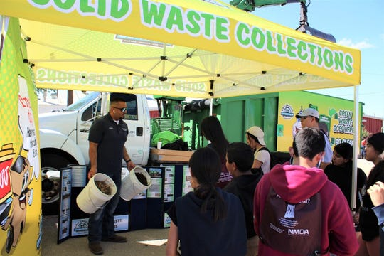 Las Cruces Utilities (LCU) took the Green Grappler to show students at the Southern New Mexico State Fair and Rodeo, and explained what it takes to manage solid waste in Las Cruces.