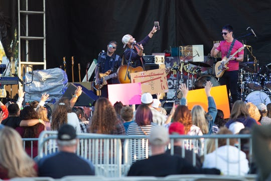Frank Ray takes a selfie with his fans at the 7th Annual Las Cruces Country Music Festival, which kicked off on Friday, October 11, 2019. The three-day event features two stages, seven headliners, and seven of the best in regional and local bands to entertain the crowd.