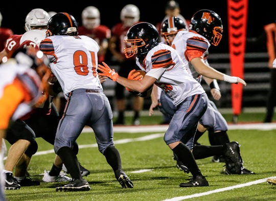 North Fond du Lac's Jamin Ives returns a kickoff against Lomira during a game earlier this season.