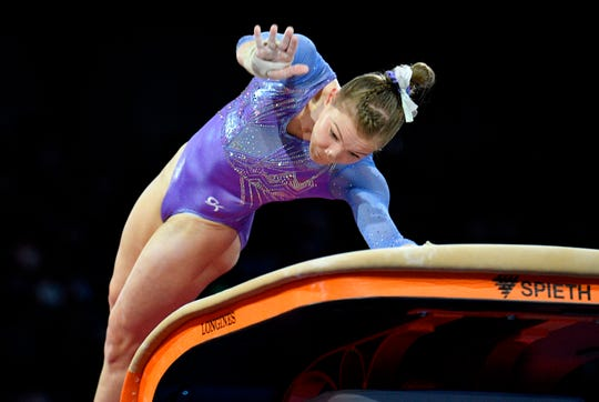 Gymnast Jade Carey of Phoenix recently won two medals at the World Championships.