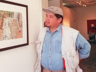 Artist Ralph Cordova is seen at the MARS gallery at the Luhrs complex in downtown Phoenix on Oct. 22, 1999.