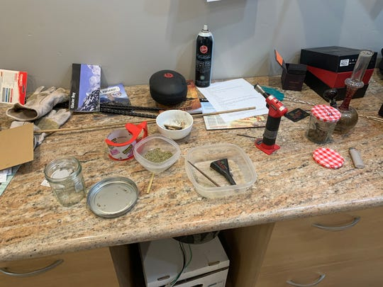 Photo of items found during Tonopah drug bust.