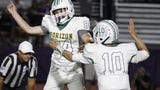Horizon scored two touchdowns on fourth down plays in overtime periods and blocked an extra point to beat Notre Dame 35-34.