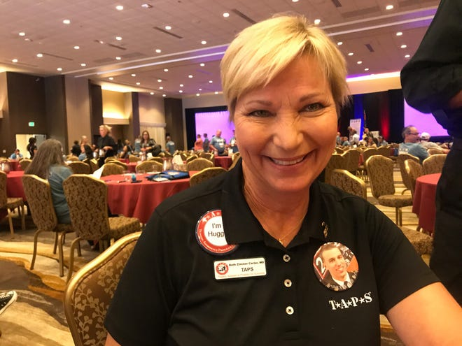 Beth Zimmer Carter, a volunteer with TAPS, attended the organization's 11th annual seminar on Saturday, Oct. 12, 2019.