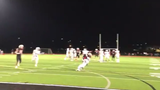 Watch the Cadets receiver run through a tackle to score this touchdown.
