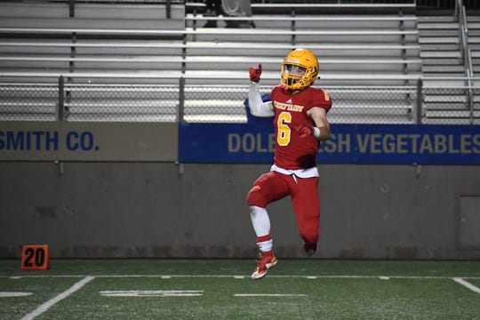 Palma defensive back JT Amaral (6) was one of the top defensive backs in the city this fall for the Chieftains.