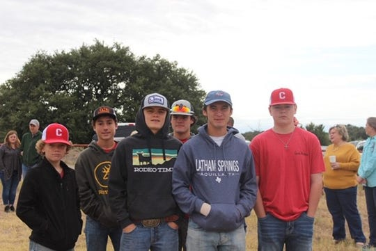 Christoval athletes were part of a groundbreaking ceremony Saturday, Oct. 12, 2019, in Pugh Park in Christoval for a new athletic complex housing baseball, softball and cross country areas for use by Christoval ISD and Christoval Little League.